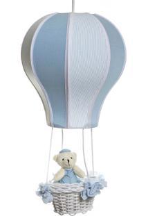 Lustre Balão Cintura Urso Quarto Bebê Infantil Menino Potinho De Mel Azul