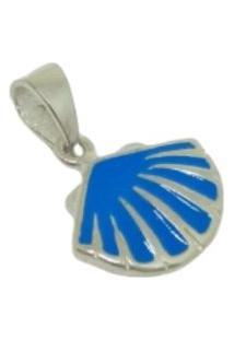 Pingente Lolla925 Concha Azul Miuda Prata 925