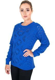 Blusa Damer Mullet Azul