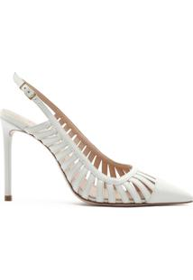 Scarpin Slingback Cut-Out White | Schutz