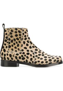Joseph Ankle Boot Com Estampa De Leopardo De Couro - Neutro
