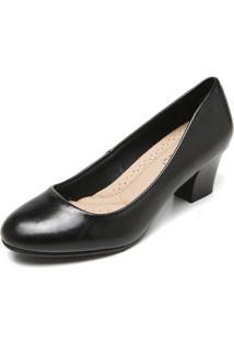 Scarpin Facinelli By Mooncity Liso Preto