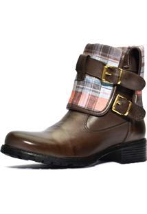 Bota Atron Shoes Com Cano Dobravel - 9105 - Café - Kanui