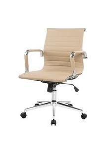 Cadeira Charles Eames Baixa Fendi Claro Base Cromada - 57891 Fendi