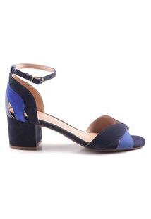 Sandália Salto Baixo Oscar (Osc) Jeans Azul