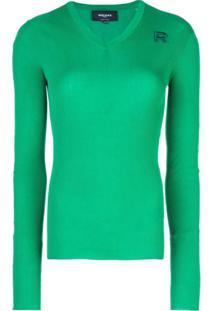 Rochas Suéter Canelado - Verde