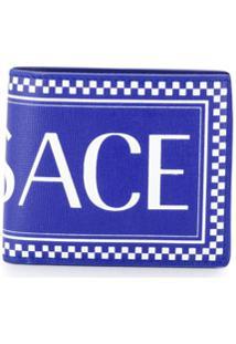 Versace Carteira Com Logo - Azul