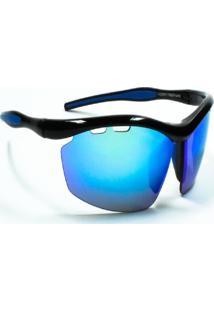 Óculos De Sol Jf Sun Ósmio-Preto Brilho-Azul Espelhado - Kanui
