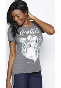 Camiseta Mulher - Cinza & Verde - Coca-Colacoca-Cola