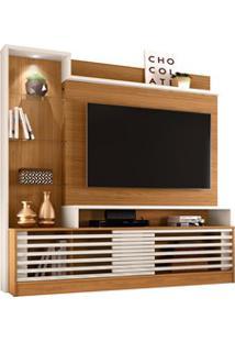 Estante Home Theater Para Tv Até 60 Pol. Frizz Prime Naturale/Off Whit