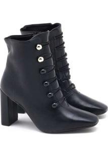 Ankle Boot Vizzano Elásticos Preto