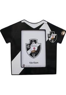 Porta Retrato Minas De Presentes Camisa Futebol Foto 10X15Cm - Vasco Preto