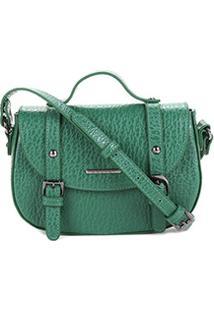 Bolsa Couro Colcci Mini Bag Floater Fivelas Feminina - Feminino-Verde