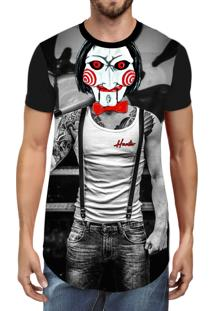 Camiseta Hunter Longline Saw Preta