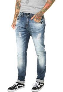 Calça Jeans Zune Indigo Estonada Azul