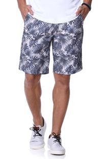 Bermuda Azul King&Joe Estampada Floral