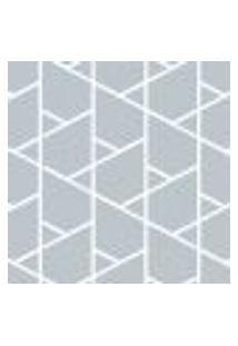 Papel De Parede Cinza Geométrico Adesivo 2,70X0,57M