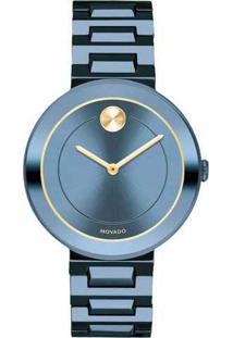 Relógio Movado Feminino Aço Azul - 3600499