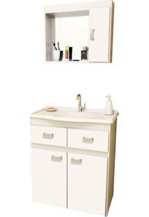 Gabinete Para Banheiro Carrara - Branco