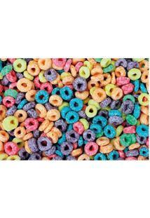 Tapete Corn Flakes- Azul Claro & Roxo- 60X40Cm- Tapetes Junior