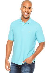 Camisa Polo Nautica Logo Azul