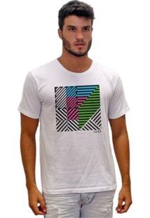 Camiseta Estonada Desenho Geométrico - Masculino