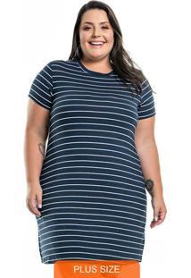 Vestido Striped Azul