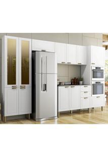 Cozinha Completa 7 Peã§As Americana Multimã³Veis 5666Mf Branco - Branco/Incolor - Dafiti