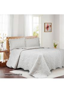 Conjunto De Colcha Ilusion Garden Queen Size- Off White