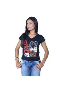 Camiseta Heide Ribeiro Estampada Love Preto
