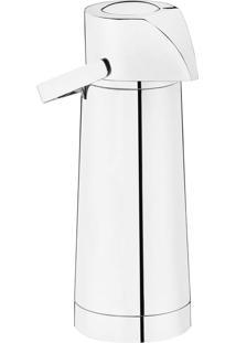 Garrafa Térmica Pump Com Ampola 1,0L Inox – Riva