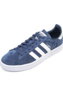 8ca9c68a7aba2 ... Tênis Couro Adidas Originals Campus W Azul-Marinho Branco