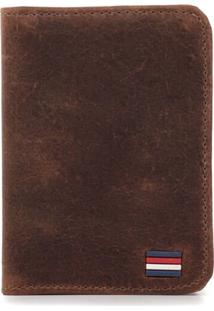 Carteira Difranca Em Couro Fóssil Compacta - 001 - Canela