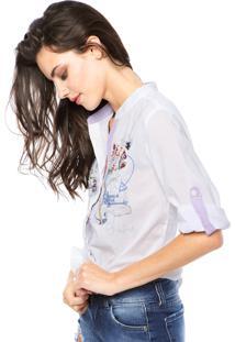 Camisa Desigual Spring Love Branca