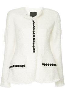 Alexander Wang Sculpted Jacket With Contrast Buttons - Branco