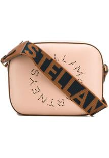 Stella Mccartney Bolsa Transversal Mini Com Logo - Rosa