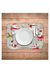 Jogo Americano De Natal Merry Christmas Kit Com 4 Pçs