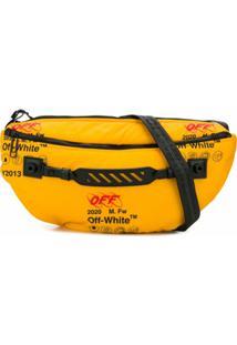 Off-White Bolsa Carteiro Com Estampa De Logo - Amarelo