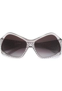 R  9556,00. Farfetch Óculos De Sol Cinza Preto Feminino Fendi De Sol  Swarovski U2 Com Cristais - Eyewear 5f3c2cdef7