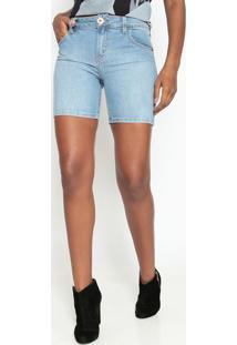 Bermuda Jeans Estonada- Azul- Coca-Colacoca-Cola