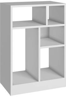 Estante Com 2 Prateleiras E 2 Divisórias Be 842 - Brv Móveis - Branco