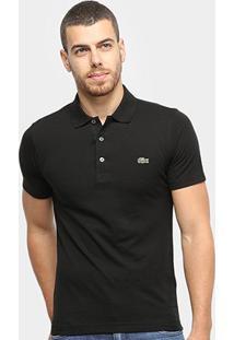 Camisa Polo Lacoste Super Light Masculina - Masculino-Preto