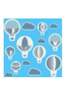 Adesivo De Parede Infantil Balões Azul E Cinza