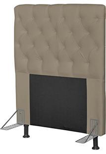 Cabeceira Cama Box Solteiro 90Cm Cristal Corino Areia - Js Móveis