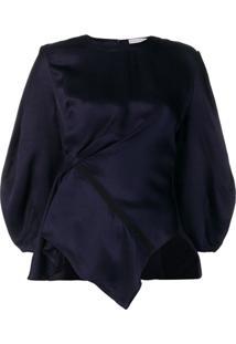 Palmer / Harding Blusa Com Acabamento Franzido - Azul