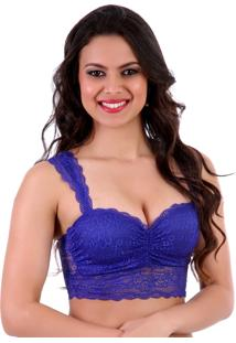 Sutiã Mardelle Top Cropped Azul