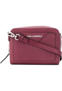 Karl Lagerfeld Bolsa Transversal K/Klassik - Vermelho