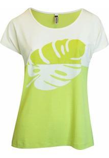 Blusa Pau A Pique Silk - Feminino-Verde Limão