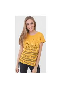 Blusa Malwee Onça Amarela