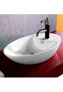 Cuba De Apoio Banheiro Lavabo Sobrepor Redonda De Porcelana Cerâmica Louça C285 - Premierdecor